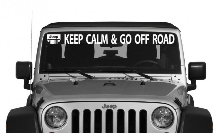 Наклейка «Keep calm and go off road»
