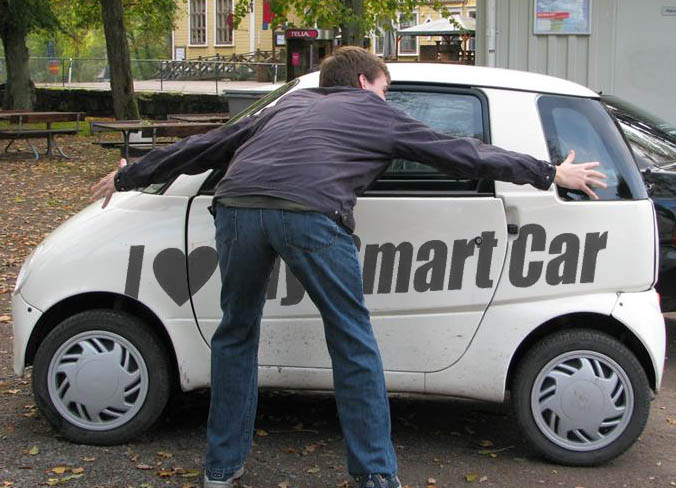 Наклейка «I love my smart car»