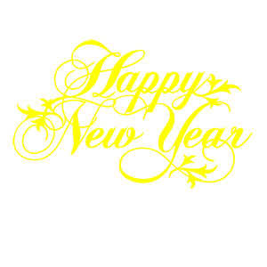 Наклейка Happy New Year