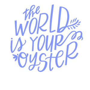 Наклейка The world is your oyster